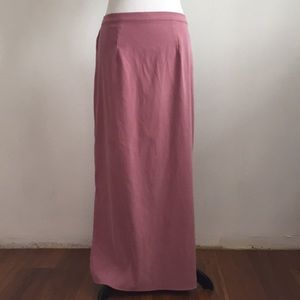 Vintage dusty pink maxi skirt